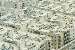 Residential area in Dubai. View from the height. royalty free stock photos