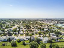 Residential area of Grande Prairie, Alberta, Canada. Residential area of Grande Prairie in Alberta, Canada Royalty Free Stock Photo