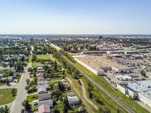 Residential area of Grande Prairie, Alberta, Canada. Residential area of Grande Prairie in Alberta, Canada royalty free stock images