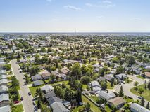 Residential area of Grande Prairie, Alberta, Canada. Residential area of Grande Prairie in Alberta, Canada Stock Photos