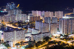 Residential Area in Hong Kong Stock Photo