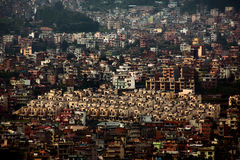 Residential area of Kathmandu. The same living quarters Kathmandu Stock Image