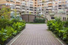 Residential area. Krasnodar Royalty Free Stock Images