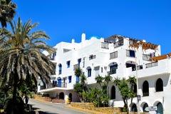 Residential area in La Duquesa marina in Spain. Residential area in La Duquesa marina, Costa del Sol, Spain stock image