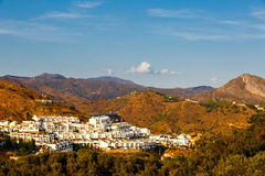 Residential area of Malaga. View from height of Castillo de Gibralfaro Royalty Free Stock Photo