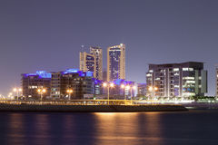Residential area of Manama City at night, Bahrain Royalty Free Stock Image