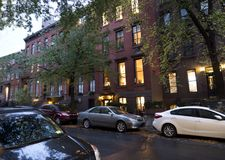 Residential area in Manhattan midtown New York Royalty Free Stock Images
