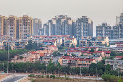 Residential area in modern city Royalty Free Stock Image