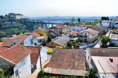 Residential area near the river Douro Royalty Free Stock Photos