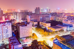 Residential area at night in wuhan Royalty Free Stock Images