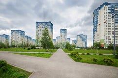 Residential area of Nizhny Novgorod in summer, Russia Stock Photo