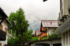 Residential Area in Oberstdorf, Germany Royalty Free Stock Photography
