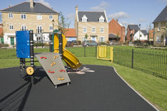 Residential area playground. Playground see-saw in residential area UK Stock Photos