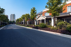 Residential area road Stock Photography