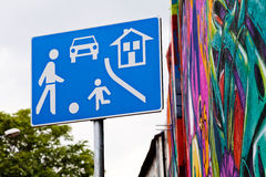 Residential area sign Royalty Free Stock Photography