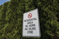 Residential area sign Stock Images