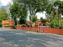 Residential area in Sigtuna Stock Photos