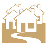 Residential area symbol. On white background Royalty Free Stock Photography