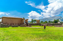 Residential area in the Temple of Wiracocha  or Temple of Raqchi Stock Photography