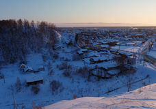 Residential area of Tobolsk, Russia Royalty Free Stock Photography