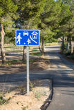 Residential area traffic sign Royalty Free Stock Image