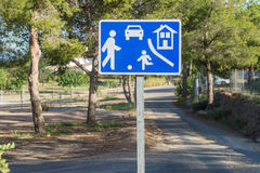 Residential area traffic sign Stock Photo
