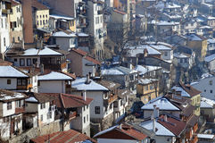 Residential Area of Veliko Tarnovo Royalty Free Stock Images