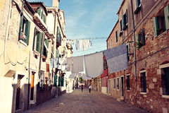 Residential area in Venice Stock Photography