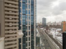 Residential area, view above. View of Moscow stock photography