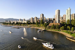 Residential Area by the water of Burrard Inlet Royalty Free Stock Photo