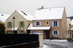 Residential area in winter Stock Photos