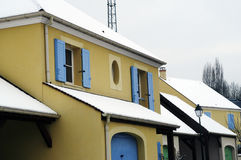 Residential area in winter Royalty Free Stock Photo