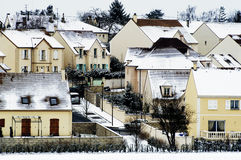 Residential area in winter Royalty Free Stock Image