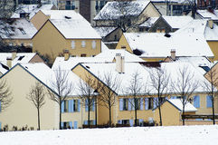 Residential area in winter Royalty Free Stock Photos
