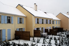 Residential area in winter Royalty Free Stock Images