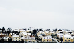 Residential area in winter Stock Photo