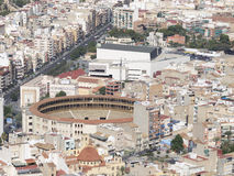 Residential areas and Bullring Alicante Stock Images