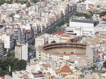 Residential areas and round the arena Alicante Stock Photo