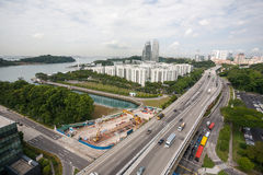 Residential areas of Singapore. Royalty Free Stock Image