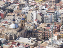 Residential areas of the solar city of Alicante Royalty Free Stock Photography