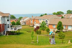 Residential Back Yards Stock Photography