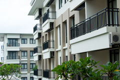 Residential Balcony Stock Photo