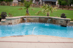 Residential beautiful swimming pool Royalty Free Stock Photo
