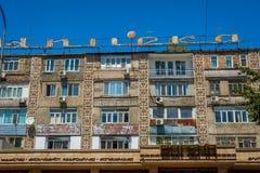 Residential block in Shymkent, Kazakhstan Royalty Free Stock Image