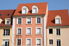 Residential block in Vaureal Stock Image
