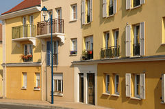 Residential block in Vaureal Royalty Free Stock Images