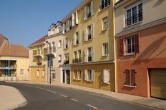 Residential block in Vaureal Stock Photo