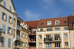 Residential block in Vaureal Royalty Free Stock Image
