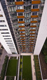 Residential building. High rise residential building with communal gardens Royalty Free Stock Photos
