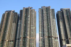 RESIDENTIAL BUILDING. High Density of the Residential Building in Hong Kong Royalty Free Stock Photos